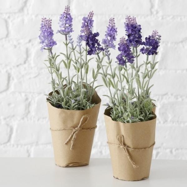 Deko Lavendel.Details Zu Boltze 2 X Deko Lavendel Im Topf Kunstpflanze Lila Je 32 Cm Provence Landhaus